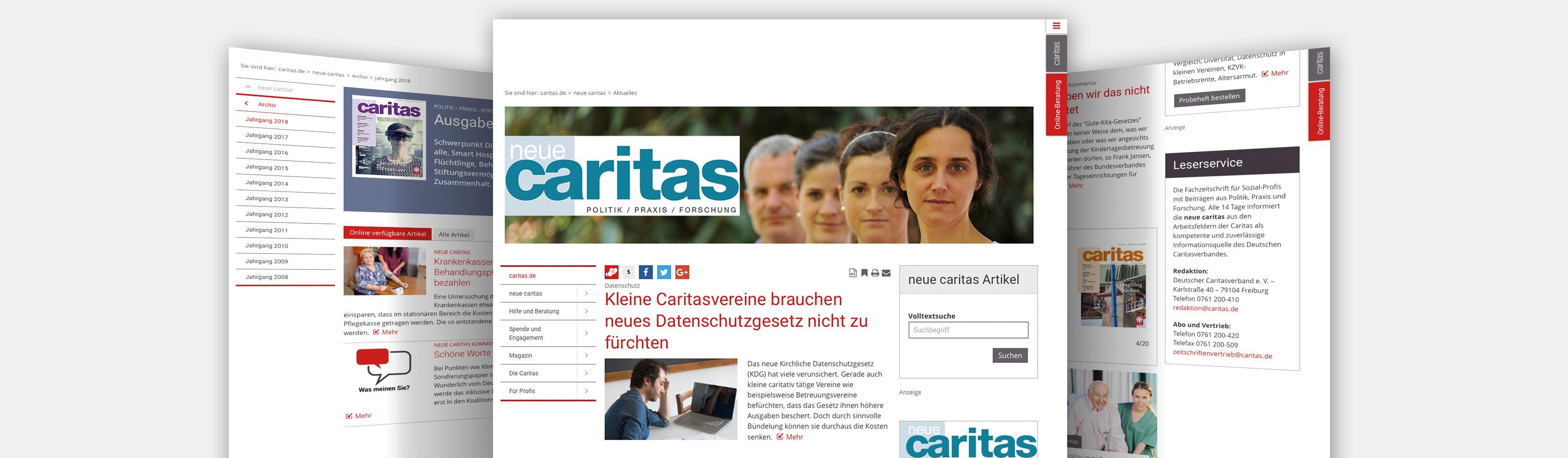 neue caritas Online